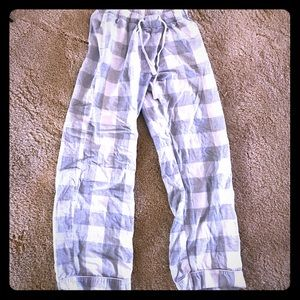 Grey and white flannel pj pants